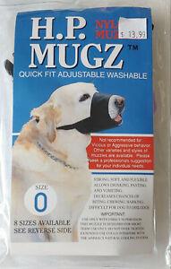 NYLON DOG MUZZLE - H.P. Mugz Quick Fit Adjustable Washable Muzzle Size 0