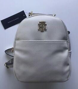 NWT Tommy Hilfiger Bone Colored Small Backpack 69J2052 100 Shoulder Bag $88.00