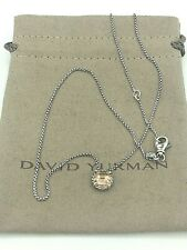DAVID YURMAN Chatelaine Pendant Necklace with Morganite & Sterling Silver 17-18""