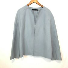 Linda Allard Ellen Tracy Women's Size M WOOL Sky Blue Hang On Shoulder Blazer