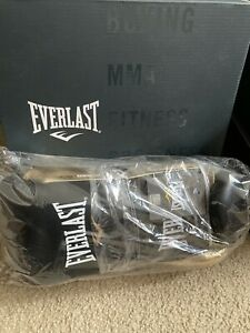 Everlast PowerLock Pro Training Sparring Gloves 16OZ Lace Black Gold - P00000686