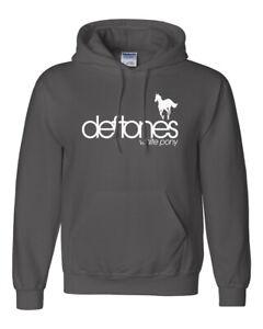 Deftones White Pony Hoodie Sweatshirt 90s Hard Rock Band on Ring Spun Cotton Tee
