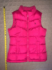 Old Navy Hot Pink Quilted Puffer Vest, Girls Size Xl 14 Zip Front Pre Owned Euc