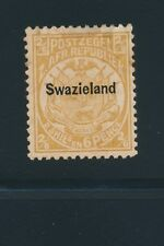 Swaziland Early Issue #6 (1889) 2sh6p Yellow; Mh Vf Cv $325