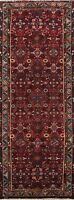 Vintage Geometric Traditional Runner Rug Wool Hand-knotted Oriental Carpet 3x10