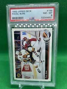 1992 NHL Upper Deck Pavel Bure #156 HOF PSA 8 Vancouver Canucks