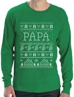 Funny Gift for Dad / Grandpa Papa Ugly Christmas Sweater Long Sleeve T-Shirt