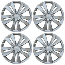 4 Pc Set Hub Cap Abs Silver 16 Inch Rim Wheel Cover Replica Hubcaps Covers Caps Fits Toyota