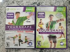 Xbox 360 Kinect Games - Your Shape Fitness Evolved & Your Shape Fitness 2012 Lot
