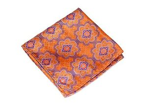 Lord R Colton Masterworks Pocket Square - Las Lajas Citrine Purple - $75 New