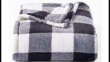 The Big One Plush Black White Buffalo Check Plaid Soft Throw Blanket 60 X 72