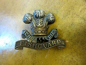 The Pembroke Yeomanry (Fishguard) BiMetal Cap Badge w/slider