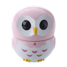 Owl Egg Timer Hourglass Egg Timer Kitchen Timer (1-60 minutes) (Pink) P1Q2