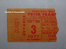 Peter Frampton 1977 Globe Concert Ticket Stub Miami Fl Baseball Stadium Rare