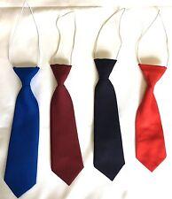 Boys Elastic Neck Tie for Wedding Party Prom Children School Show Kids Tie UK