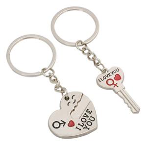 Mini kreative metall silber I love You Ich liebe Dich Herz Schlüsselanhänger