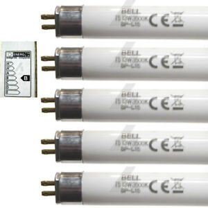 5 x 13w Strip Light Lamp 530mm T5 Fluorescent Tube White Light Bulb 13 Watt BELL