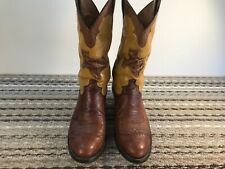 Justin Brown, Ostrich Boots Mens Size 9D