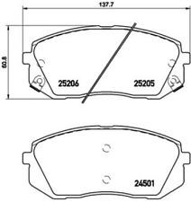 BREMBO Bremsbelagsatz VA Hyundai ix35 i40 + CW Kia Sportage SL Soul PS - P30 056