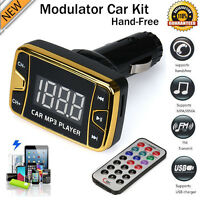 MP3 Player Wireless FM Transmitter Modulator Car Kit USB SD TF MMC LCD + Remote