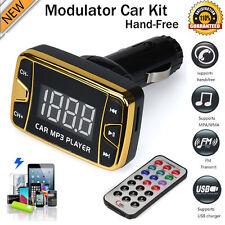 MP3 Player Wireless FM Transmitter Modulator Car Kit USB SD TF MMC LCD + Remote