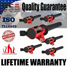 6 Pack Ignition Coil Fit Ford Escape Mercury Mariner Mazda Tribute V6 3.0L Red