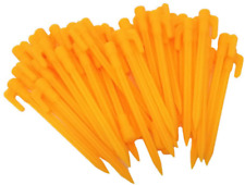 Honbay 40pcs 5.7llll Yellow Plastic Garden Stakes Tent Pegs Canopy Accessories