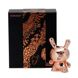 "Kidrobot New Money 5"" Metal Dunny Tristan Eaton Rose Gold"