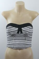 NWT Size XS 8 Ladies White Top Crop Bra Boho Chic Cocktail Party Evening Design
