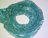 Gorgeous Apatite Faceted Round/Roundel Gemstone Beads 3-4mm 13 Inch.