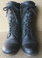 Candie's Women's Lace-up Boots With Inside Zipper Black Size 8M Combat Style