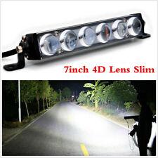 Single Row 7inch 60W 4D Slim LED Work Light Bar Spot Beam For Offroad Car Truck