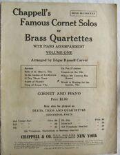Chappells Famous Cornet Solos or Brass Quartettes Volume 1 1933