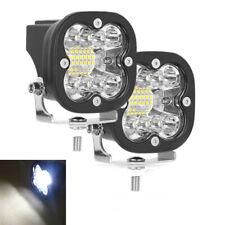 2x Aluminum 100W LED Spot Light Driving Fog Strobe Lamp for Motorcycle ATV 12V