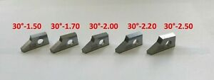 E2 30° set of 5 .Valve seat cutting carbide tip bit,SERDI ROTTLER SUNNEN