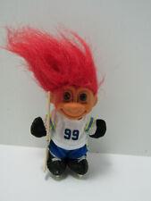 Troll Doll By Russ 4 1/2� Red Hair Brown Eyes Wayne Gretzky #99 Hockey