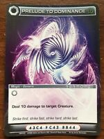Chaotic Card Prelude To Dominance 169/222 Unused Code Free Shipping