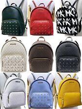 Michael Kors Erin Medium Large ABBEY Backpack MK Signature Leather STUDDED