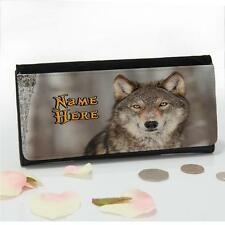 Personalised Wild Wolf Wildlife Large Ladies Money Coin Purse Mum Gift SH281