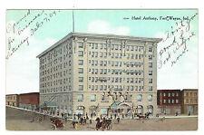 Fort Wayne Indiana Hotel Anthony posted 1909