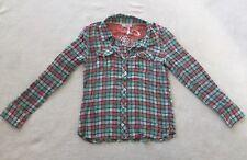 NEW Matilda Jane Friends Forever Alexis Plaid Button Top Shirt Size 14 Tween NWT