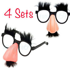 4-Groucho Glasses Nose Mustache Mask Funny Disguise Prank Face Marx Accessory