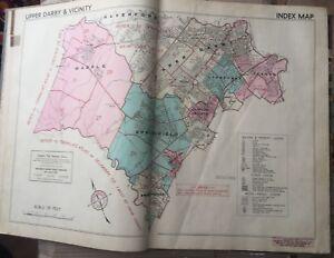 ORIG 1942 DELAWARE COUNTY PENNSYLVANIA INDEX PAGE FRANKLIN SURVEY CO. ATLAS MAP