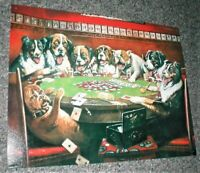Metal Dogs Playing Poker Sign, Great for Bar/Man Cave, Preowned Excellent Cond.