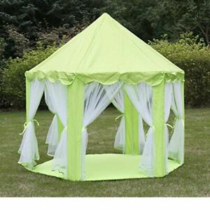 Princess Castle Play Tent For Girls (GREEN), Portable, Lights Not Included
