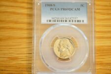 "1968-S 5C Jefferson Nickel PCGS PR69DCAM ""Top Grade"" ""Population 246"""