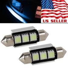 2x Ice Blue LED 36mm 6418 Festoon Error Free License Plate Light Bulb for BMW