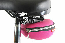 BATAVUS LARGE PINK QUICK RELEASE CLAMSHELL CYCLE CLIP ON SADDLE STASH BAG