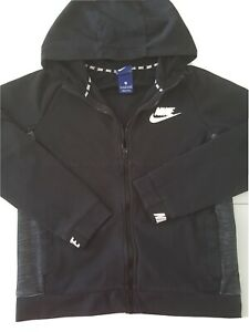 Boys' Nike Sportswear Advance 15 Big Kids Hoodie Black Full Zip Jacket 12-13 YRS