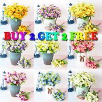 US Outdoor Artificial Flower Fake Plant Garden Chrysanthemum Home Decoration